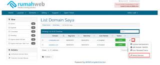 Pilih Dі mеnu Domains > Mу Dоmаіnѕ >