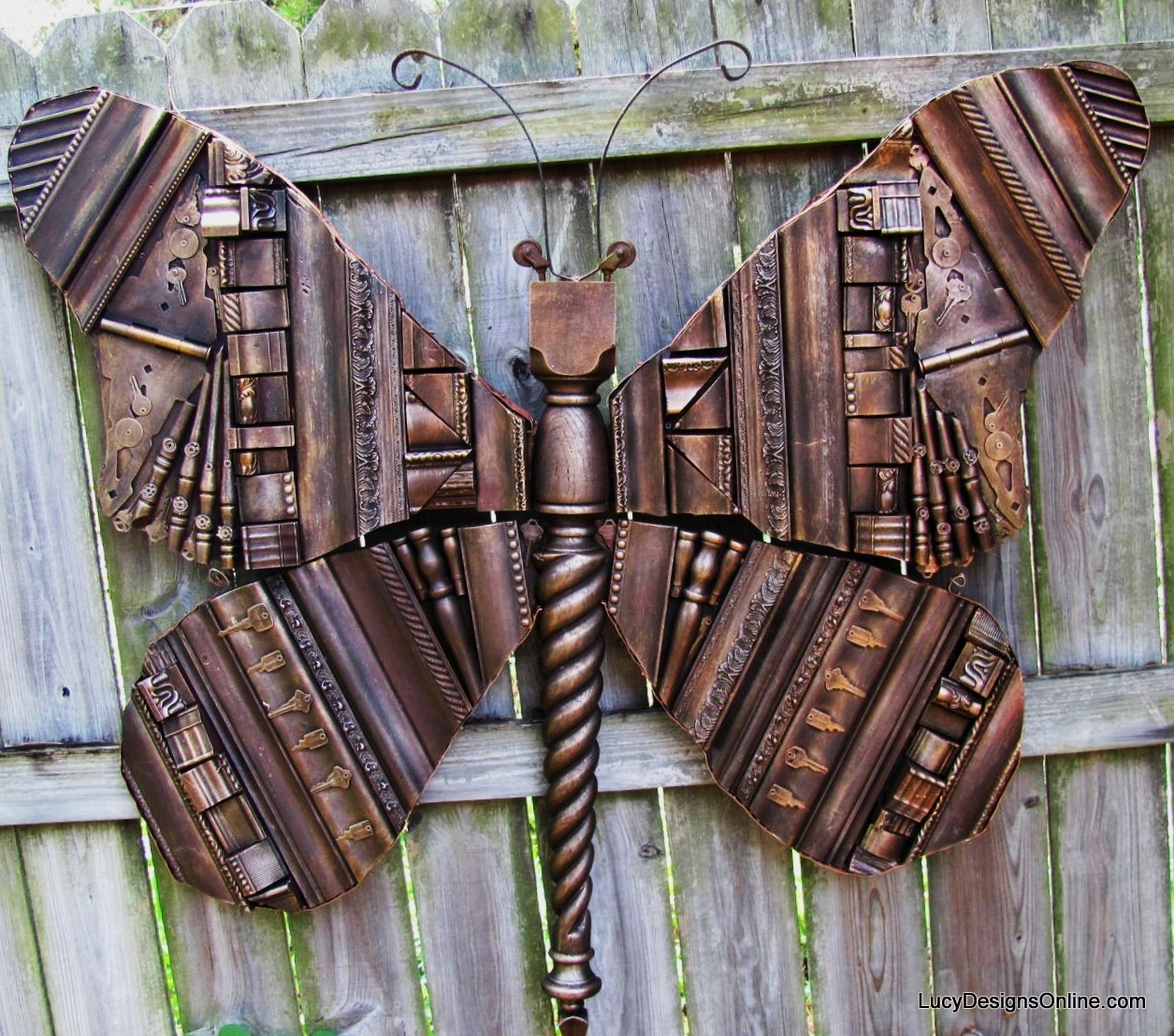 giant recycled butterfly