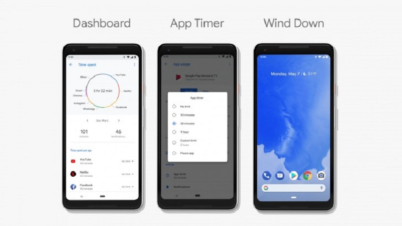 New dashboard, app timer, and wind down