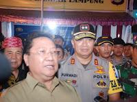Kapolda Lampung Bersama Forkompinda, Cek Pos Pam dan Pos Yan di Kota Bandar Lampung
