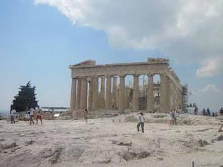 The Parthenon At The Acropolis In Athens Greece