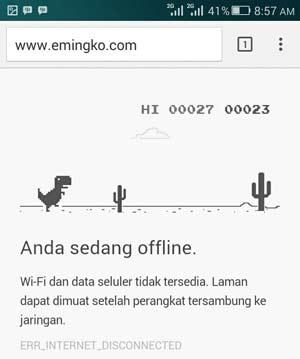 Game Offline Seru Tersembunyi di Google Chrome