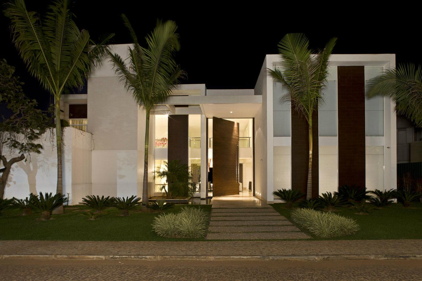 Entradas modernas de casas simple residencia estilo en - Entradas casas modernas ...