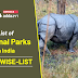 State wise-List of National Parks in India