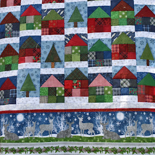 #QuiltBee: Country Cabins quilt