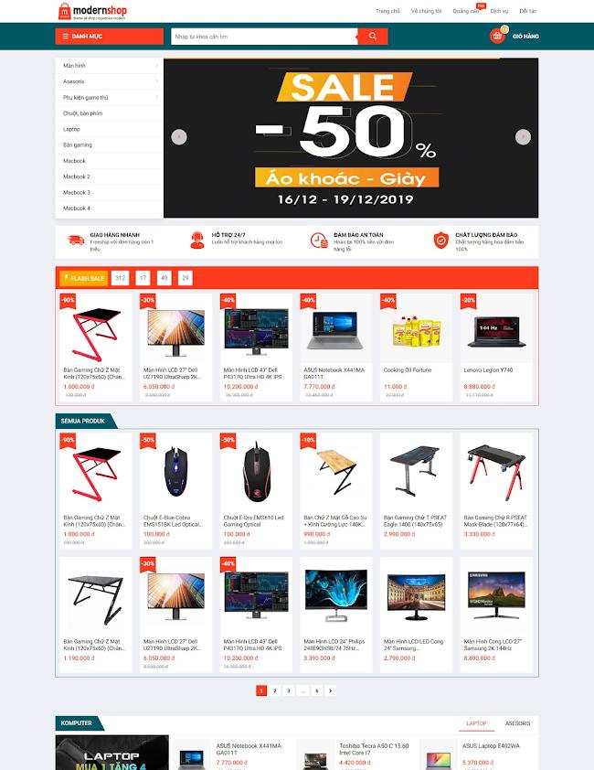 Template blogger E-niaga ModernShop