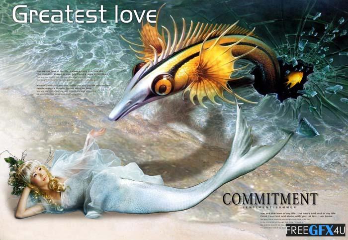 Greatest Love PSD Template