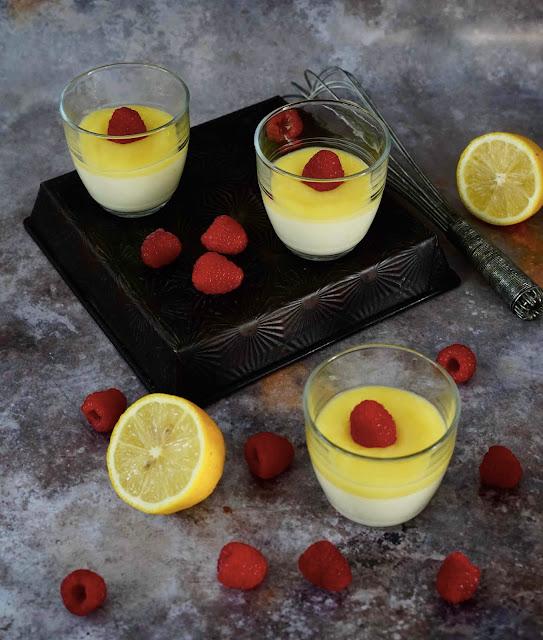 dessert exoress au citron , lemon curd , dessert facile , crème fondante
