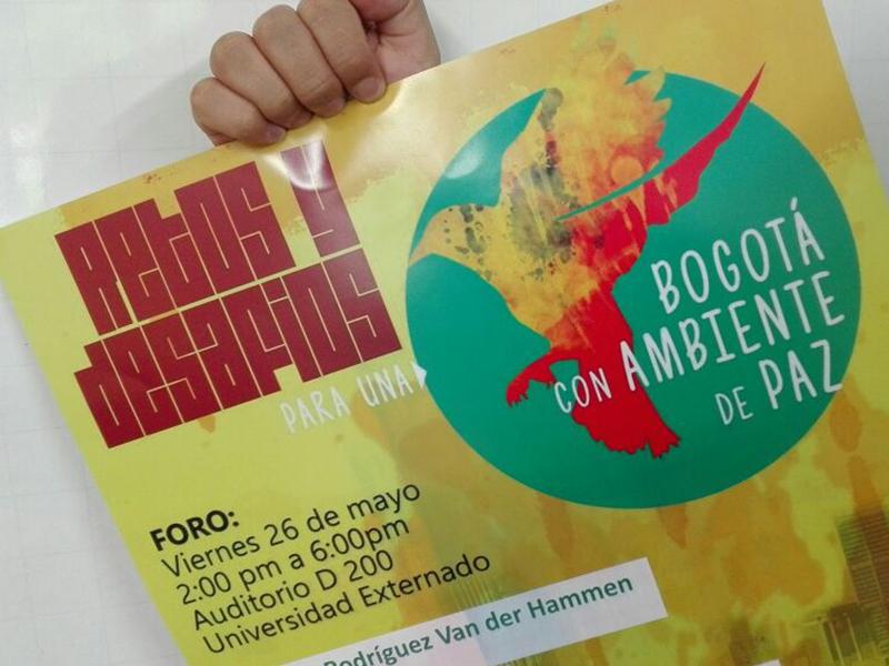 Este viernes nace la Plataforma 'Bogotá con Ambiente de Paz'