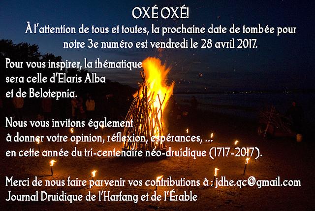 Journal Druidique Beltane 2017