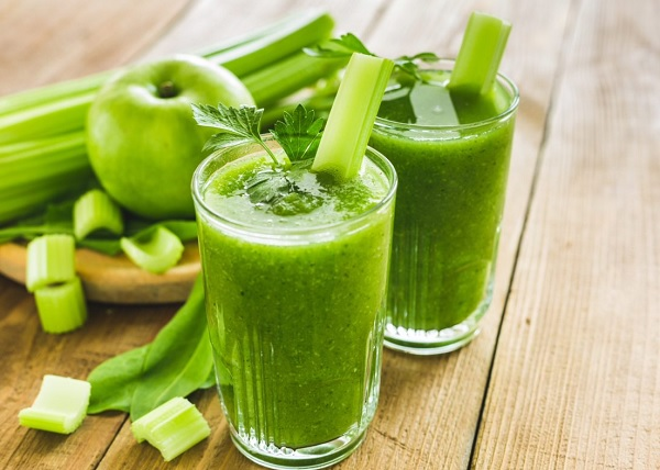 Through the work of celery juice for slimming