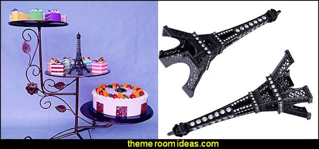 Bling bling Eiffel Tower cake Statues - display statues