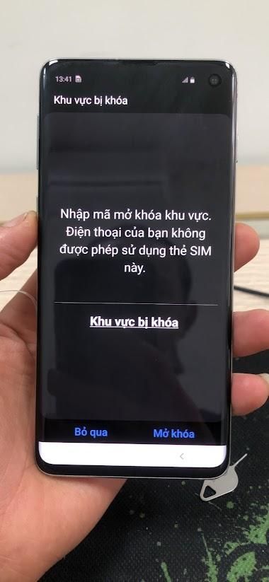 Samsung S10 G973F U4 Unlock Network - Mở Mạng