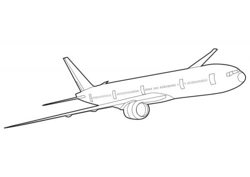 Desenhos Para Pintar: Desenhos De Aviões Para Colorir