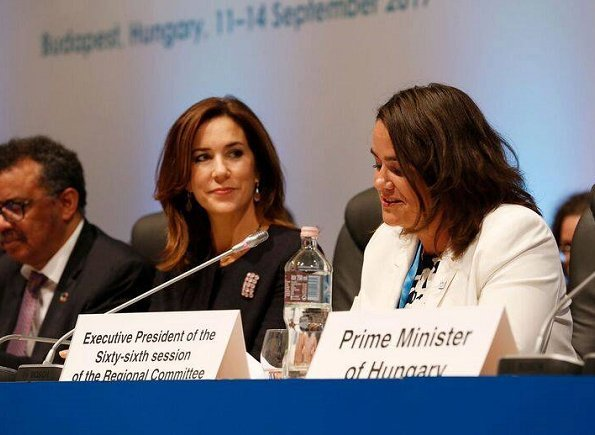 Crown Princess Mary attend the opening of 67th session of the World Health Organization Regional Committee for Europe