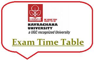 Navrachana University Exam Date Sheet 2020