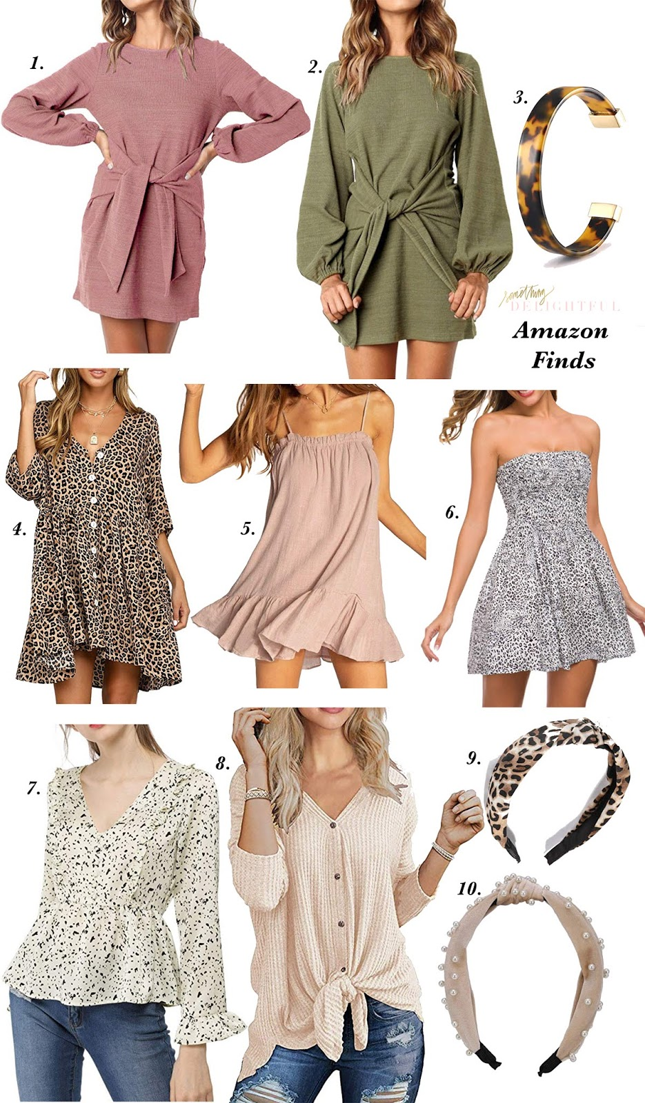Amazon Friday: Under $30 Tie Front Dress + Recent Amazon Finds - Something Delightful Blog
