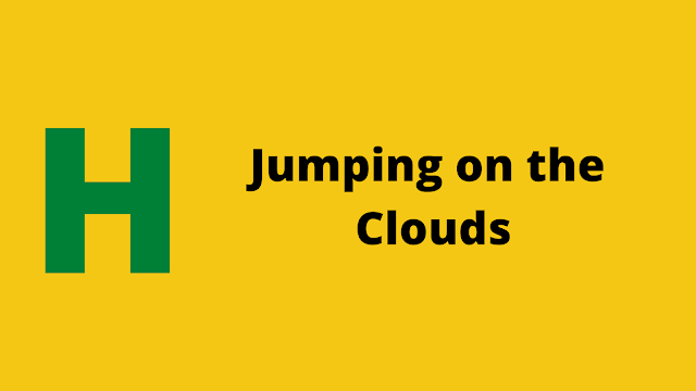 HackerRank Jumping on the Clouds Interview preparation kit solution