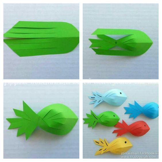Easy Paper crafts fish for preschool