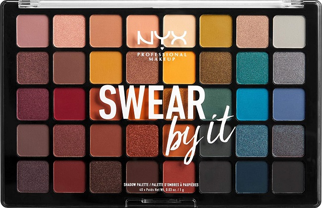 Oferta de amazon: Paleta de sombras de ojos Swear by it de NYX