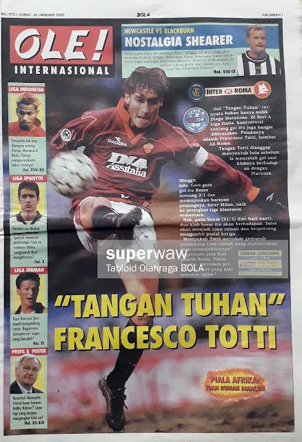 FRANCESCO TOTTI OF AS ROMA
