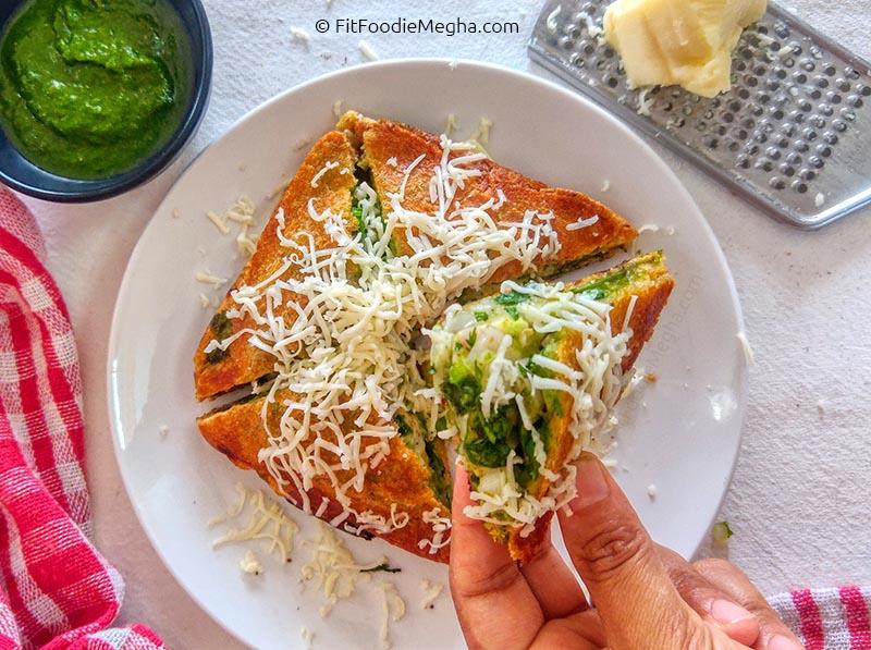 Close-up of Ghugra Sandwich