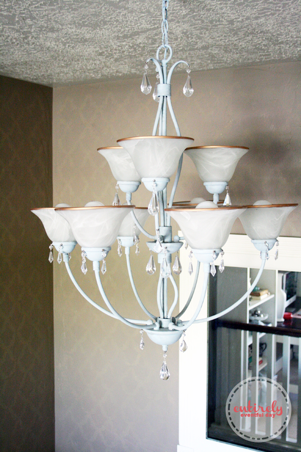 Diy Chandelier Makeover With Chalk Paint Entirely