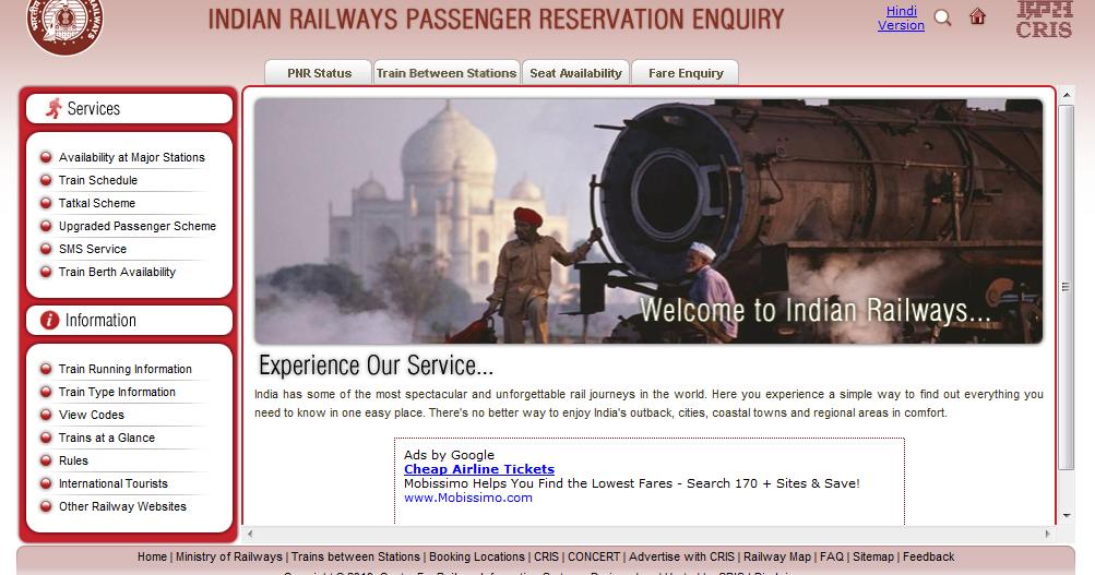 find railway enquiry