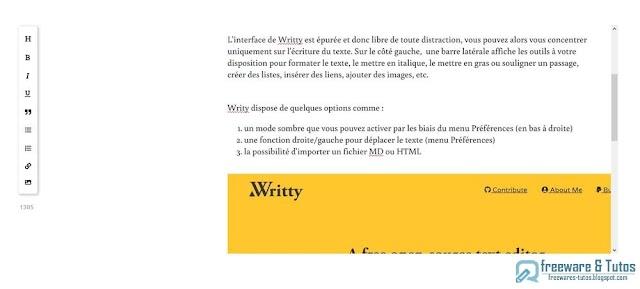 Writty : un éditeur de texte minimaliste et pratique