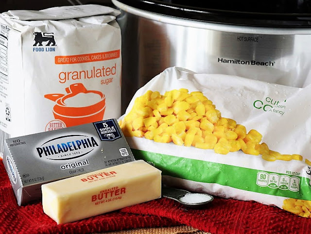 Crock Pot Creamed Corn Ingredients Image