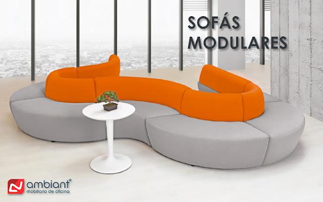 Sofás modulares como parte del mobiliario de oficina