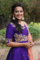 Actress Shraddha Srinath in Purple Chania Choli Cute Pics ~  Exclusive 42.jpg