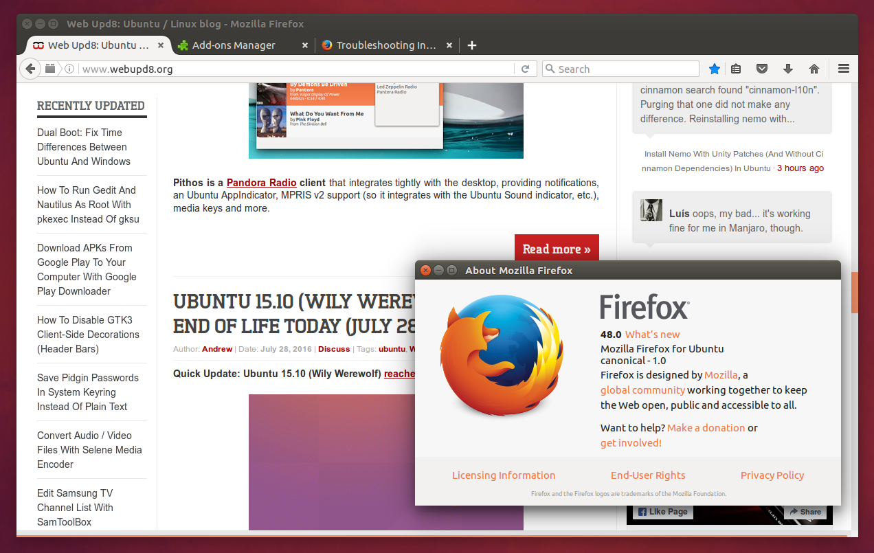 Firefox 48 Released, Multi-Process Enabled By Default For Some Users