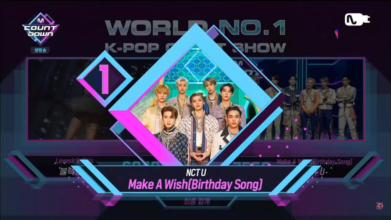 NCT U Takes Home Trophy on 'M! Countdown' With 'Make A Wish'
