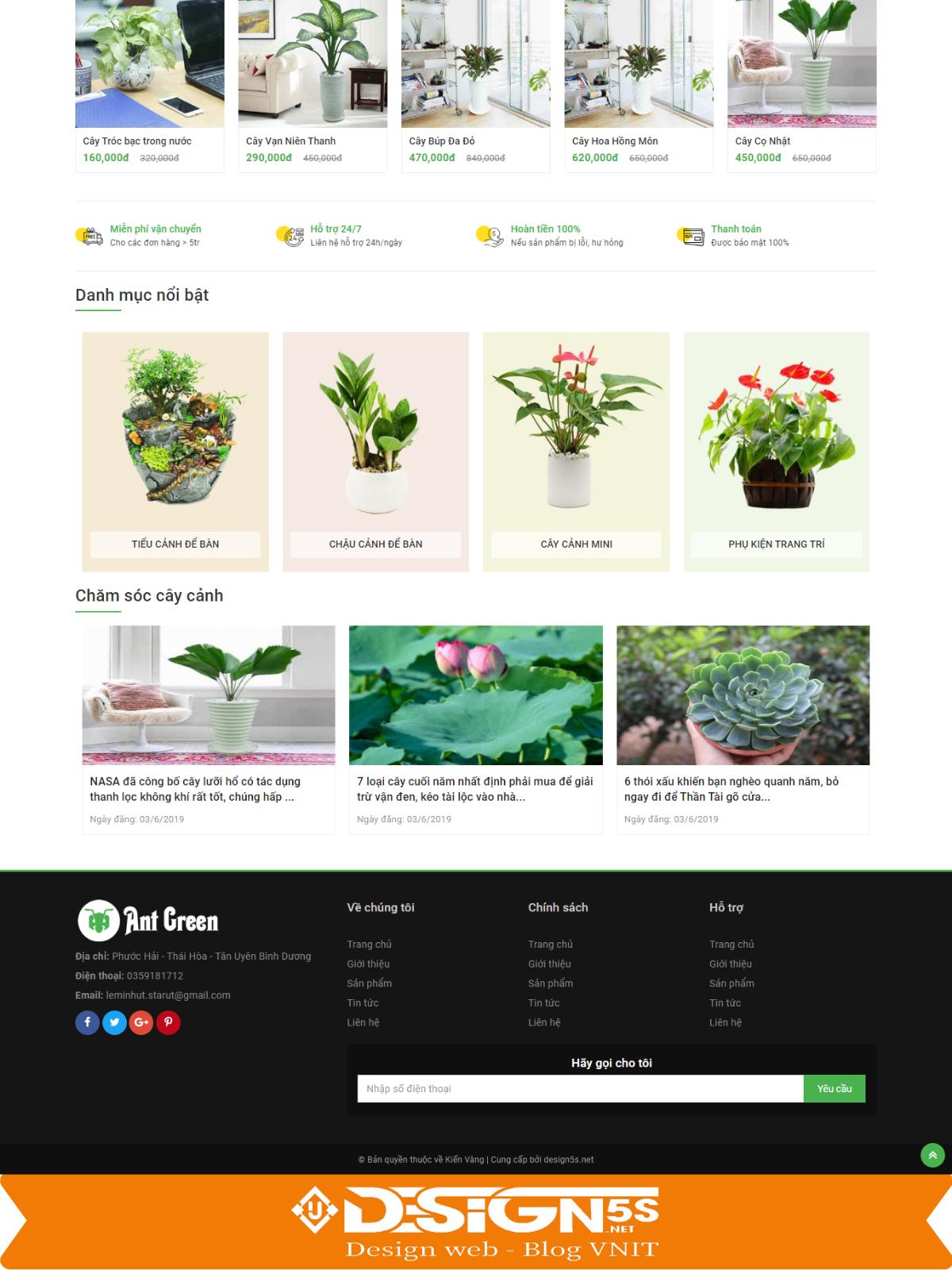 Mẫu Website Bán Cây Cảnh Chuyên Nghiệp Chuẩn Seo - Ảnh 2