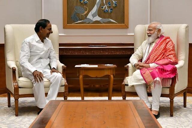 ప్రధానితో భేటి ఆయిన సిఎం కెసిఆర్