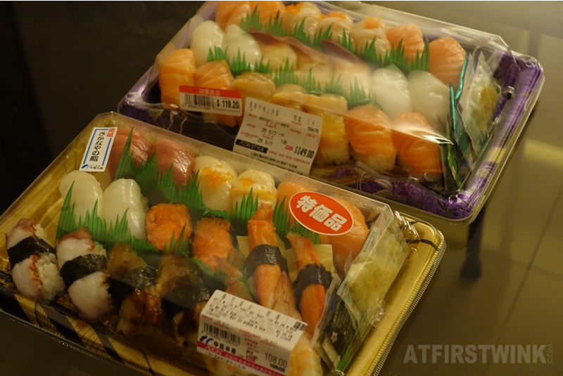 Sushi from AEON supermarket Whampoa discounted boxed