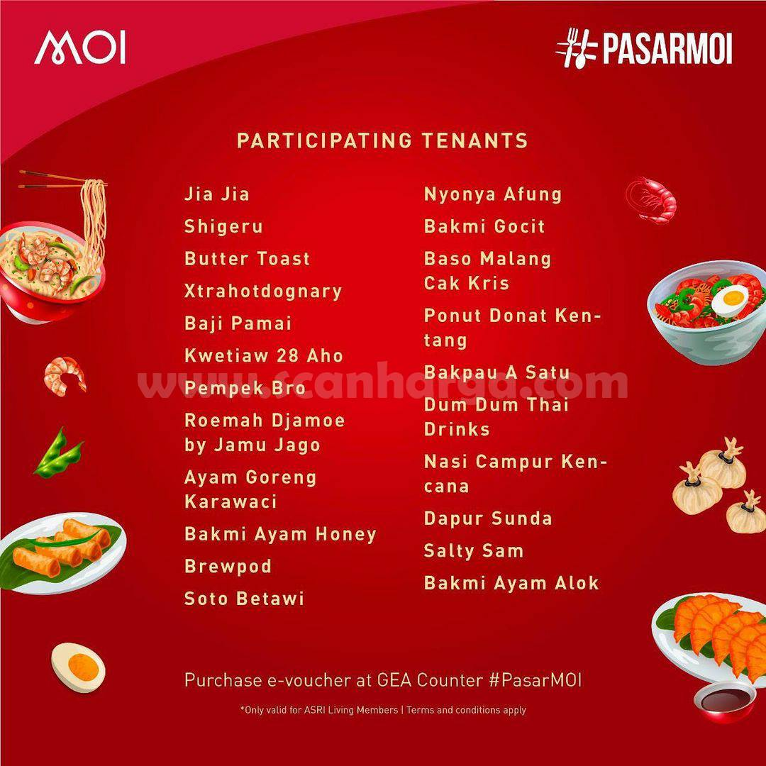 Mall Of Indonesia Present! Pasar MOI Promo Makan Rp 10.000 Weekday Only*