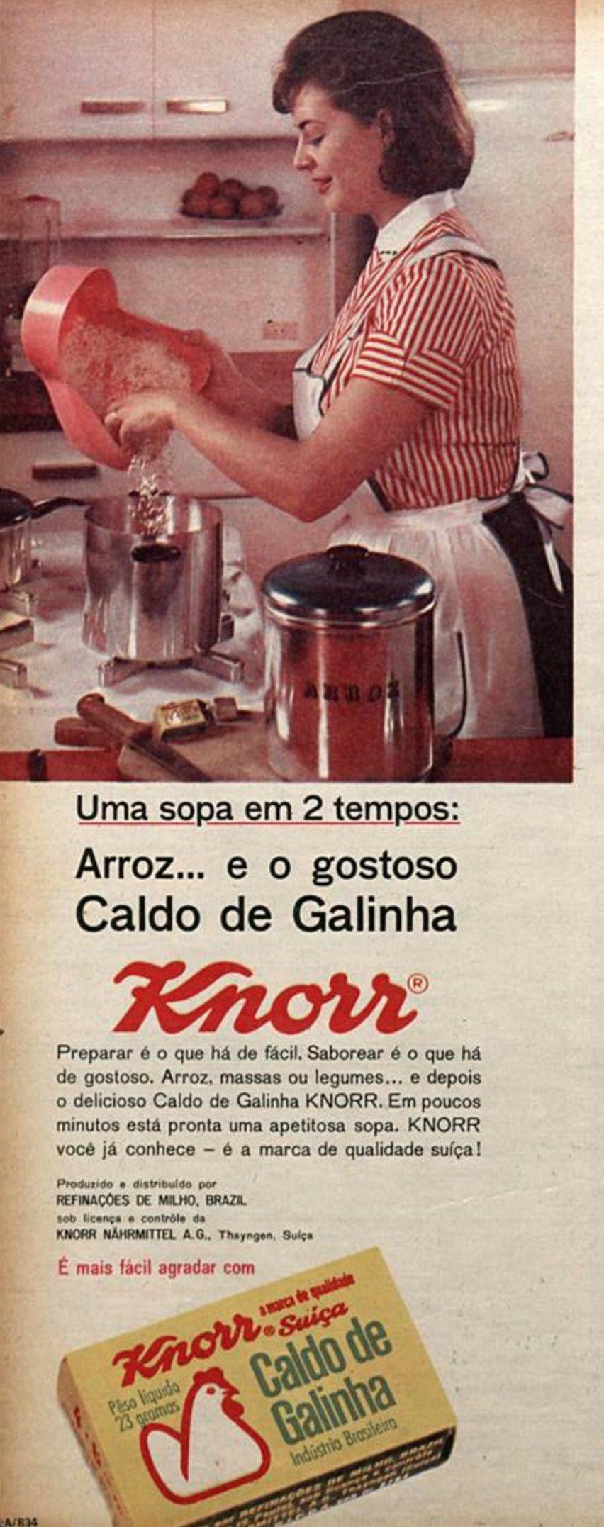 Propaganda antiga do Caldo Knorr veiculada em 1964