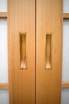 Inlaid door pulls for shoji screen