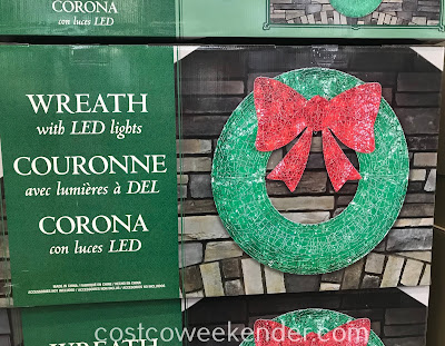 Decorate your home this Christmas with an LED Wreath