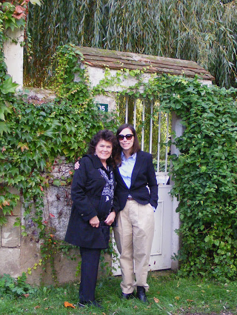 Sally Weinbach and her niece Gabrielle Hoover. Indre et Loire, France. Photographed by Susan Walter. Tour the Loire Valley with a classic car and a private guide.