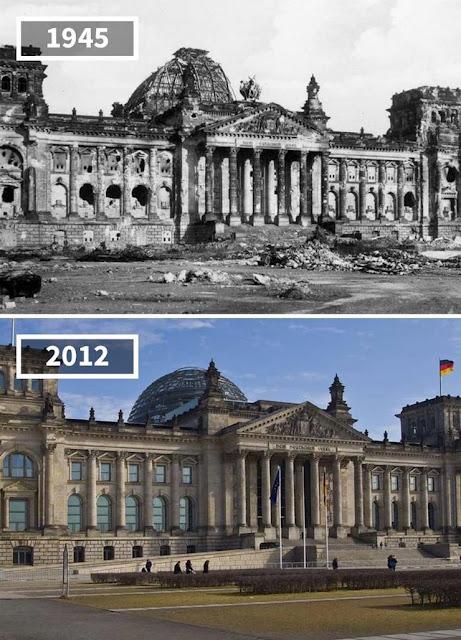 Antes y después Reichstag, Berlín