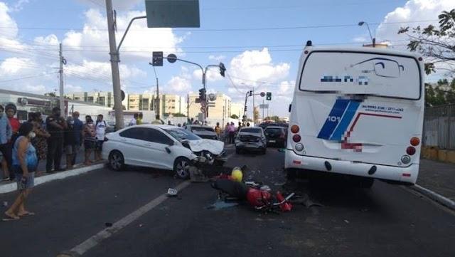 Mototaxita morre após grave colisão em volvendo seis veículos na Zona Sul de Teresina