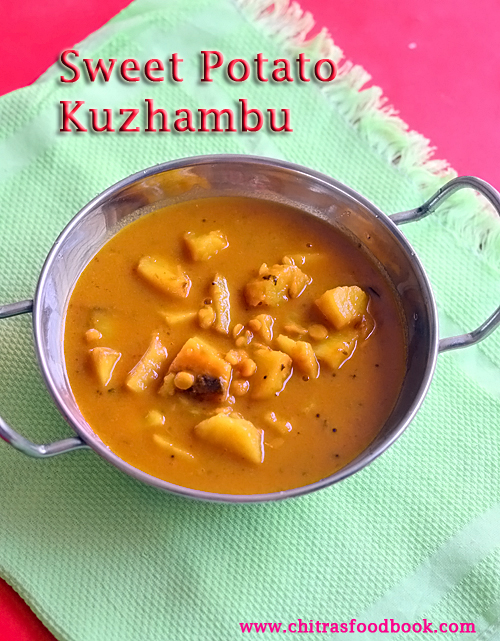 sweet potato kuzhambu
