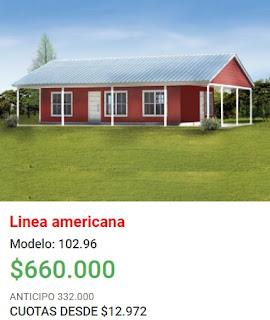 Viviendas Roca precios 2018 linea americana modelo 102 96