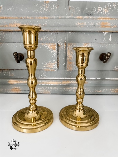 Party Lite brass candlesticks