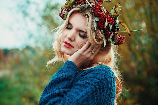 Simple flower crown diy image