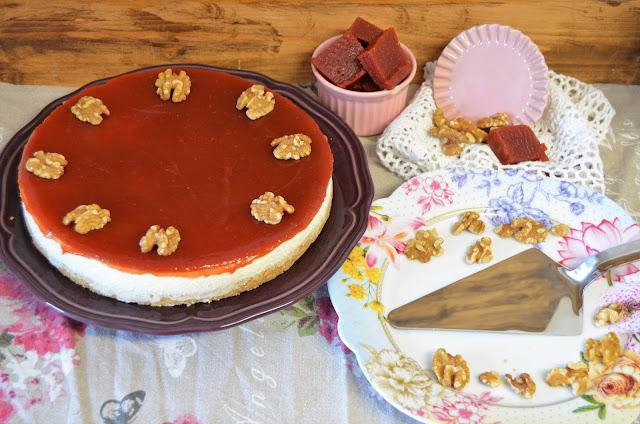carne de membrillo, dulce de membrillo, dulce de membrillo casero, dulce de membrillo receta, recetas, tarta de dulce de membrillo, tarta de dulce de membrillo con queso camembert y nueces, las delicias de mayte,