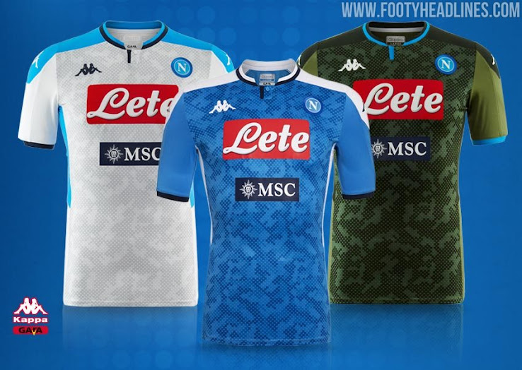 SSC Napoli 19-20 Home, Away, Third & Goalkeeper Kits Released ...